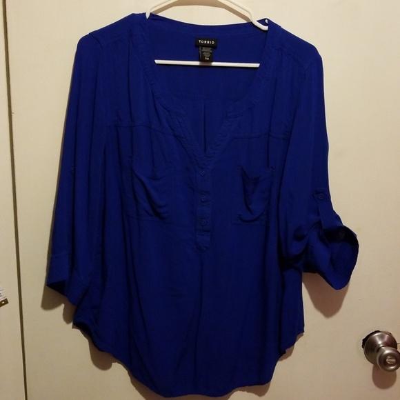 a2beab21d2f torrid Tops - Torrid sz 00 Georgette tab sleeve blouse